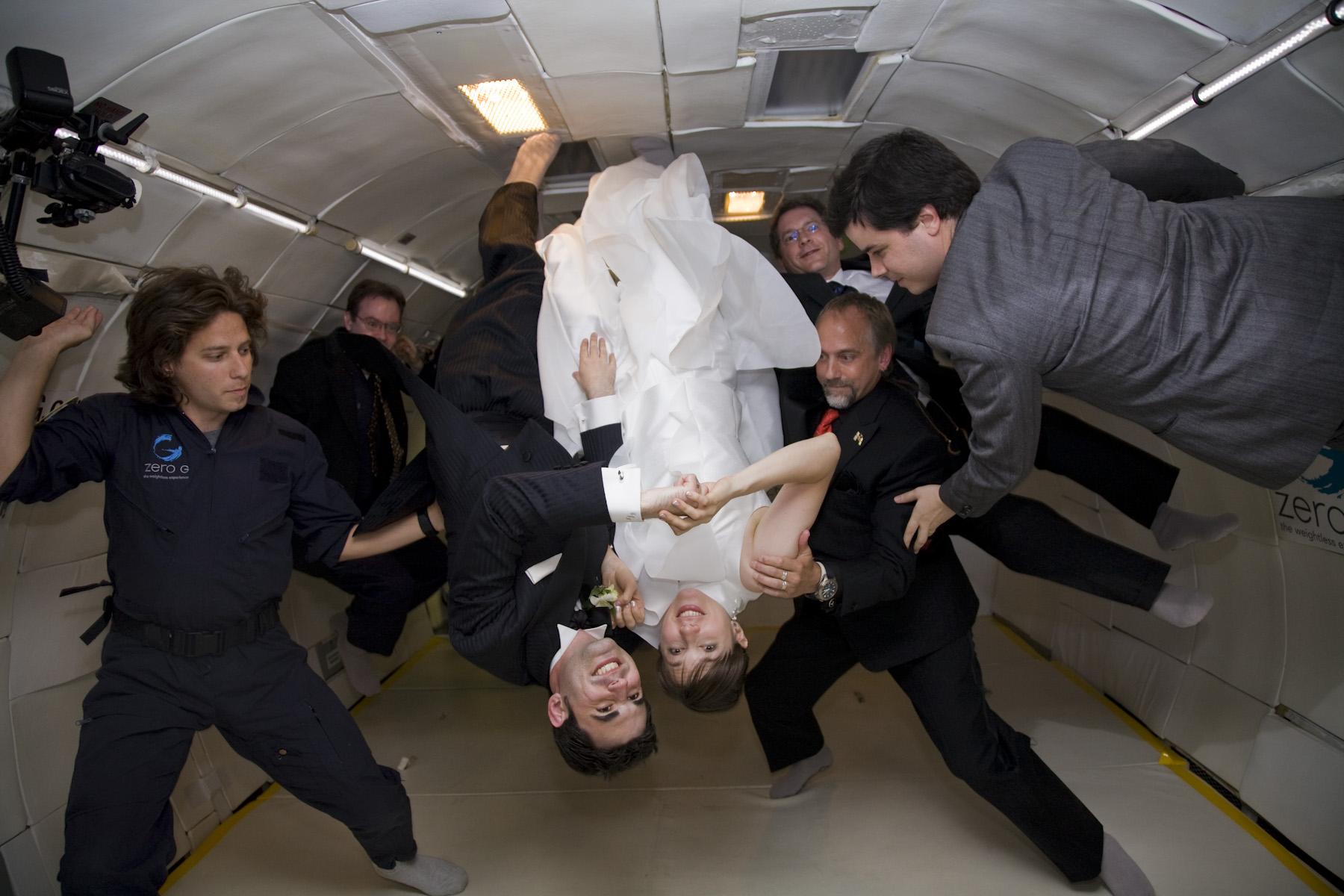 weightless wedding experience zero-g zero gravity weddings